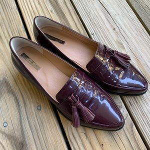 Purple Patent Leather Tahari Loafers 8